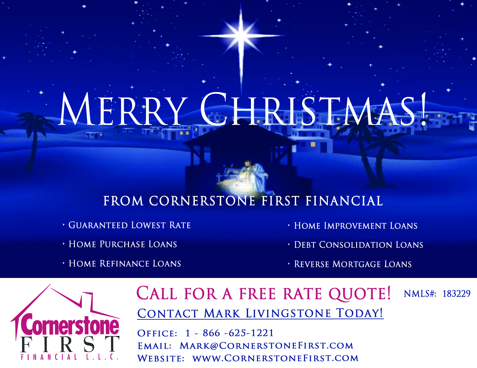 Merry Christmas From Cornerstone First Financial ...