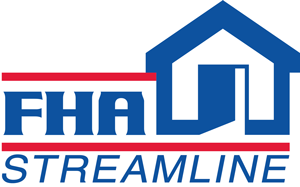 FHA streamline refinance home loan mortgage program logo